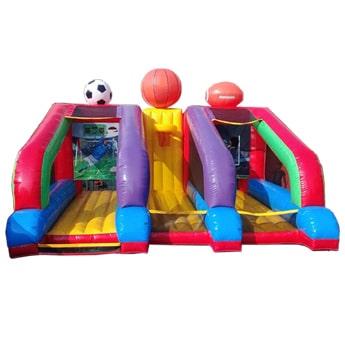 Inflable deportivo 3 en 1, soccer, basquetball y futbol americano.